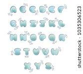 plump handwritten bubble... | Shutterstock .eps vector #1035306523