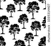 seamless pattern  maple tree ... | Shutterstock . vector #1035314407