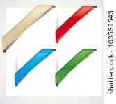 colorful corner ribbons on a... | Shutterstock .eps vector #103532543