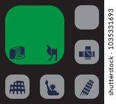 set of 6 monument icons set.... | Shutterstock .eps vector #1035331693