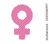 woman symbol. female sign... | Shutterstock .eps vector #1035336997