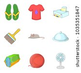brilliant cleaning icons set.... | Shutterstock .eps vector #1035351847