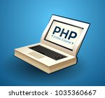 programming language concept  ... | Shutterstock .eps vector #1035360667