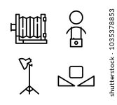 icons camera with custom... | Shutterstock .eps vector #1035378853