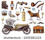 gentleman accessories hand...   Shutterstock .eps vector #1035381223