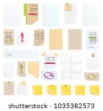 note papers vector sticker... | Shutterstock .eps vector #1035382573