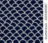 crochet pattern. knitting... | Shutterstock . vector #1035385087