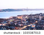 panomaric view of the city of... | Shutterstock . vector #1035387013