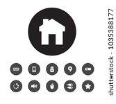 set of 11 media icons set....   Shutterstock .eps vector #1035388177