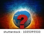 3d rendering question mark and...   Shutterstock . vector #1035395533