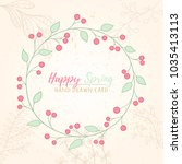 fresh modern design card of... | Shutterstock .eps vector #1035413113