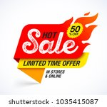 hot sale banner. limited time... | Shutterstock .eps vector #1035415087