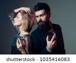 quarrel and broke up concept.... | Shutterstock . vector #1035416083