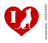i love dog vector illustration... | Shutterstock .eps vector #1035418567