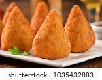 coxinha   brazilian snack | Shutterstock . vector #1035432883