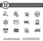 job search vector icons for... | Shutterstock .eps vector #1035434233