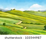 colorful and relaxing rural... | Shutterstock . vector #103544987