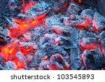 Closeup Of Warm Glowing Embers...