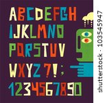 funny alphabet letters with... | Shutterstock .eps vector #103545947