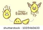 funny cartoon easter egg is...   Shutterstock .eps vector #1035460633