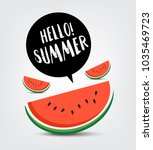 hello summer vector | Shutterstock .eps vector #1035469723