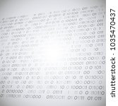 3d grey binary code on white...