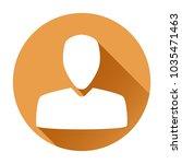 user icon. orange round sign....   Shutterstock .eps vector #1035471463