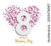 illustration of 8 march... | Shutterstock .eps vector #1035478087
