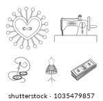needle and thread  sewing...   Shutterstock .eps vector #1035479857