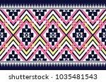 geometric ethnic pattern... | Shutterstock .eps vector #1035481543