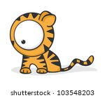 cute and funny cartoon tiger... | Shutterstock .eps vector #103548203