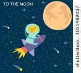 vector illustration of bitcoin... | Shutterstock .eps vector #1035489037
