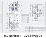 author's design of residental...   Shutterstock .eps vector #1035490903