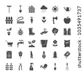garden solid web icons. vector... | Shutterstock .eps vector #1035491737
