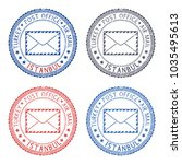 colored postal stamps istanbul  ... | Shutterstock . vector #1035495613