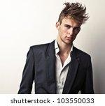 elegant young handsome man.... | Shutterstock . vector #103550033