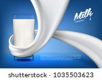 vector milk background banner ... | Shutterstock .eps vector #1035503623