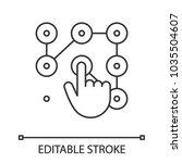 lock pattern linear icon. thin... | Shutterstock .eps vector #1035504607