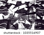 distressed background in black... | Shutterstock .eps vector #1035516907
