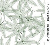 seamless pattern with leaves....   Shutterstock .eps vector #1035527143