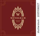 monogram design elements ...   Shutterstock .eps vector #1035538327