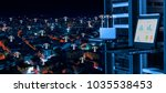 wireless management center and... | Shutterstock . vector #1035538453