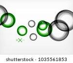 flying abstract circles  vector ...