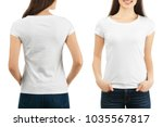 front and back views of young...   Shutterstock . vector #1035567817