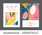 set of creative universal... | Shutterstock .eps vector #1035574117