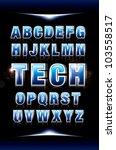 vector of futuristic alphabets... | Shutterstock .eps vector #103558517