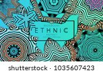 ethnic banners template with... | Shutterstock .eps vector #1035607423