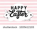 happy easter card. vector. | Shutterstock .eps vector #1035612103
