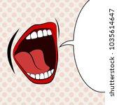 open female mouth screaming... | Shutterstock .eps vector #1035614647