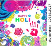 happy holi   festival of colors....   Shutterstock .eps vector #1035615217